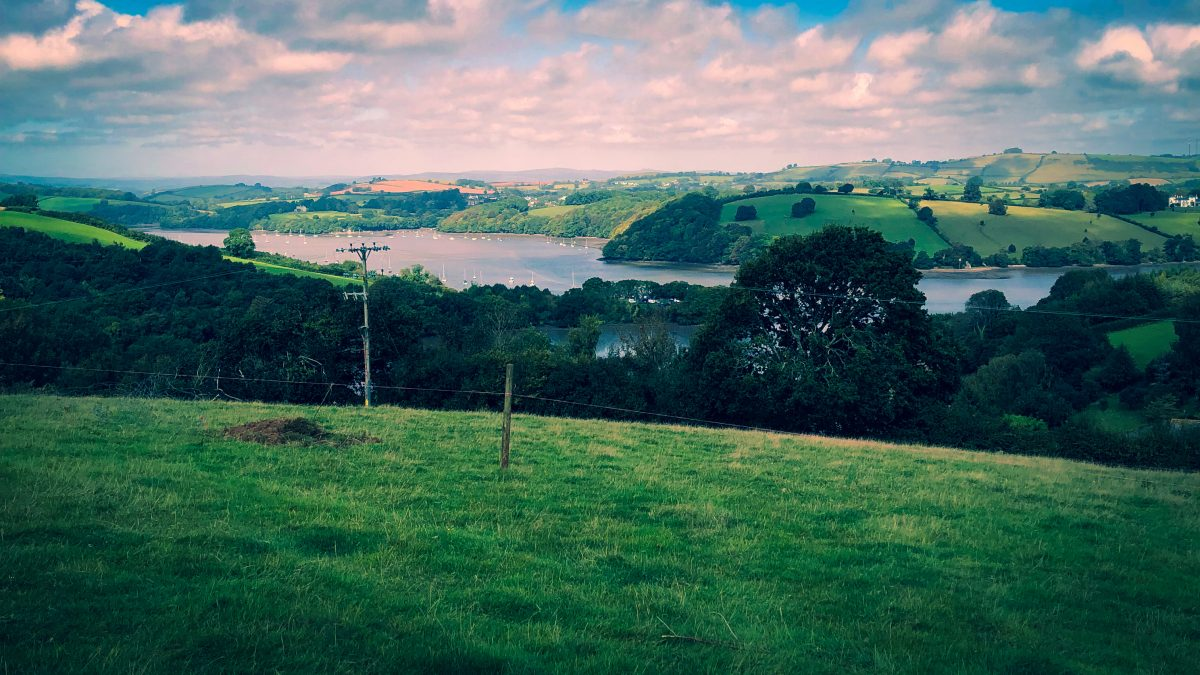 A view over the River Dart in Devon